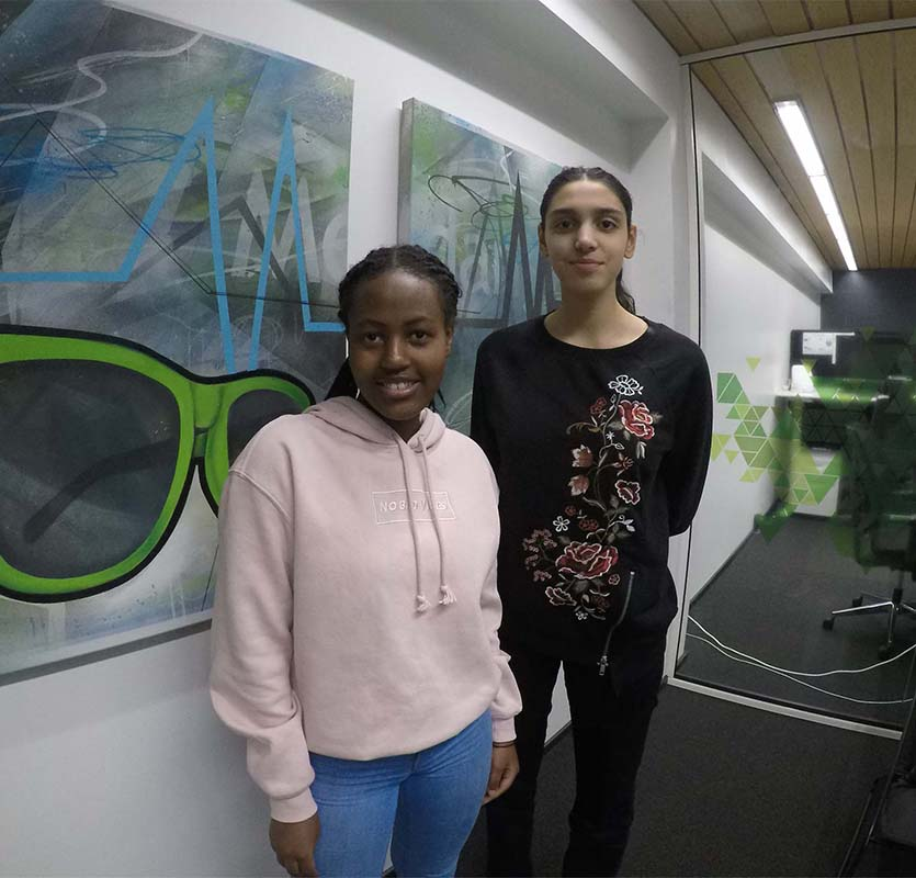 Olive and Leila did a one-week work practice programme at Medanets
